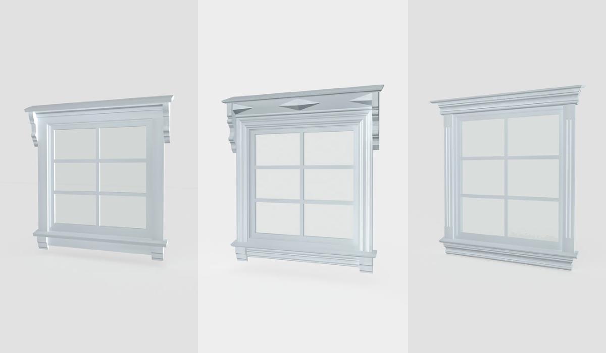 Bilde for kategori Komplett vindusomramming